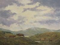 deer duelling by william ellis barrington-browne