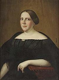 porträtt av kvinna i svart by carl peter lehmann
