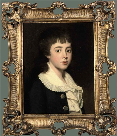 portrait of william henry west betty in a blue coat and white blouse by john opie