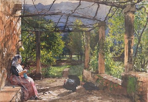 the terrace majorca by william ewart lockhart