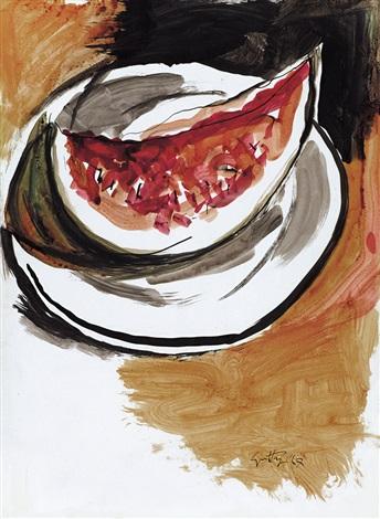 cocomero by renato guttuso