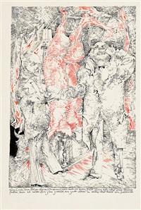 zwei zeichnungen zu bertold brechts die heilige johanna der schlachthöfe by heinz zander