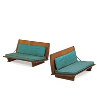 folding benches (pair) by frank lloyd wright