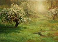 apple blossoms by arthur parton