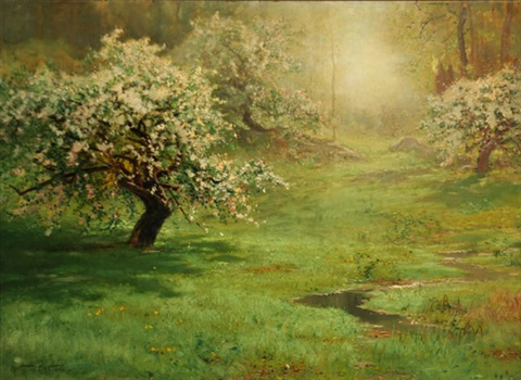 apple blossoms by arthur parton