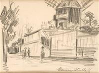 le moulin de la galette by maurice utrillo