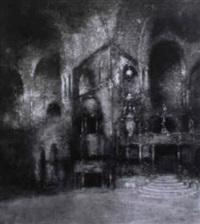 das innere von s. marco in venedig by karl leipold