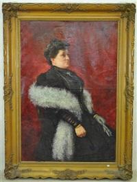 portrait de dame by edouard verschaffelt