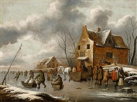 wintertag auf dem eis by thomas heeremans