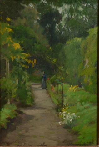 houton his fiance on the path of her camborne home by samuel john