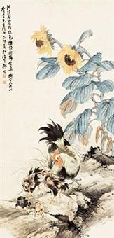 教子图 镜心 纸本 by liu bin