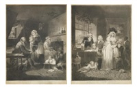the effects of youthful extravagance & idleness; the fruit of early industry & economy (pair) by william ward