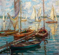 segelboote auf der havel by margarete von zawadzky