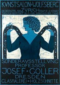 plakat zur sonderausstellung professor josef goller im kunstsalon wolfsberg, zürich by josef goller