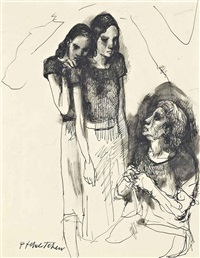 les femmes, a study by pavel tchelitchew