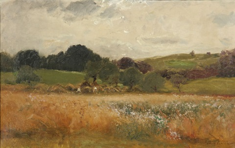 field of hay by arthur parton