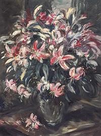 bunter lilienstrauß im sonnigen licht by george albert dorschfeldt