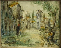 figures on a street by zvi raphaeli