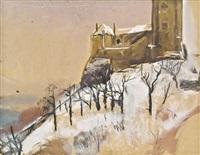 kirche am berg by josef dobrowsky