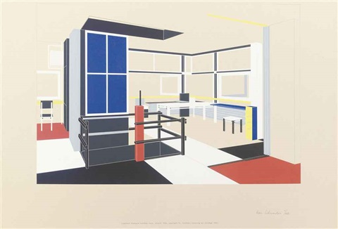 The interior of the Rietveld Schröder house another 2 works by Han ...
