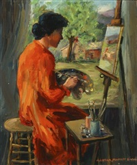 the red smock - self-portrait by martha moffett bache