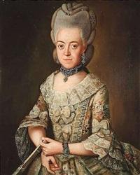portrait der maria christina von keget in höfischer galakleidung by friedrich ludwig hauck