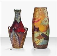 landscape vase by zsolnay