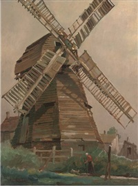 the old mill at ockley by george ayling