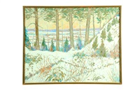 winter landscape by carl springer