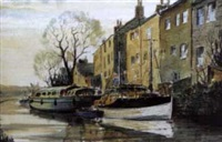the leeds and liverpool canal at rodley by jack rigg
