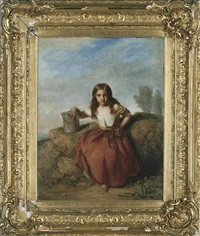 the young helper (+ the young water carrier; pair) by john thomas peele