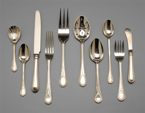 flatware in hester bateman pattern set of 54 by cj vander ltd