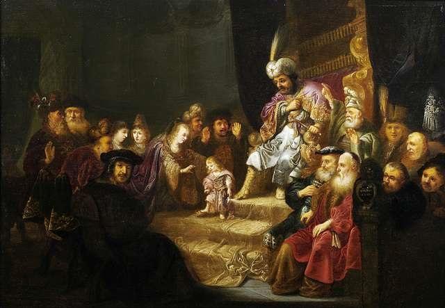 moses und die krone des pharao by salomon koninck