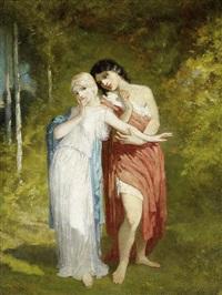 paar auf der waldlichtung by andré charles voillemot