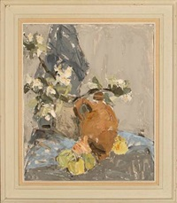 still life with flowers by borge bokkenheuser