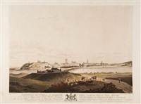badajos, on the guadiana, as approach'd from albuquerque and elvas by henry smith