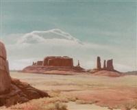 desert plateau by clyde eugene scott