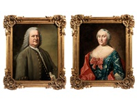 bildnisse eines grossbürgerlich gekleideten paares (pair) by johann georg ziesenis