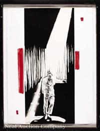 the entertainer; red kiss; spiral garden exhibition (3 works) by robert longo