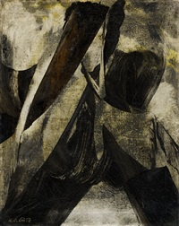 untitled (8. 12. 1955) by karl otto götz