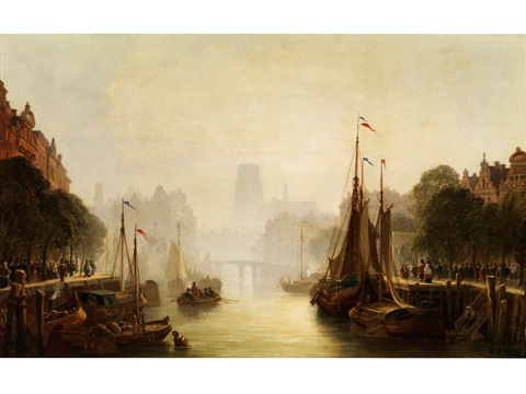 gracht in amsterdam by anonymous dutch 19