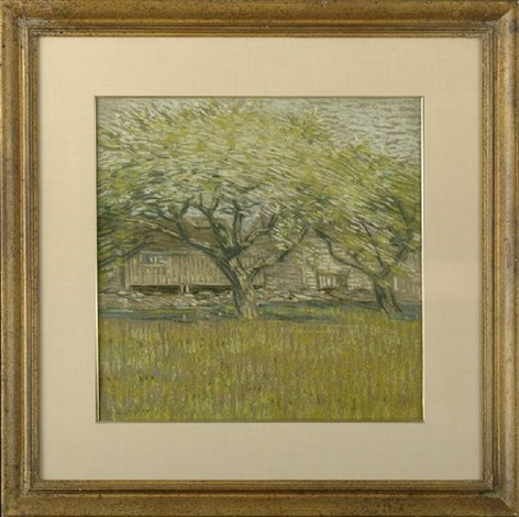 trees in blossom by charles salis kaelin