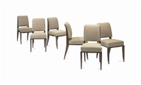 dining chairs (set of 12) by émile jacques ruhlmann