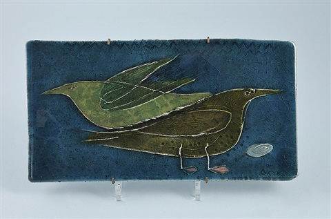 decorative plaque of birds by rut bryk