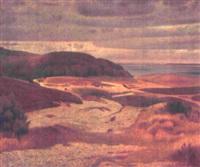 udsigt over mols bjerge med fugletræk by charles godfredsen