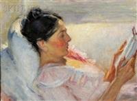 woman reading by robert tolman