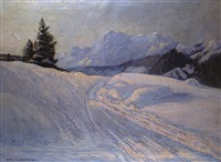 winter bei kitzbühel by carl adolf korthaus