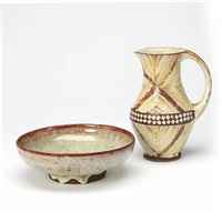 jug and bowl (2 works) by lisbeth munch-petersen