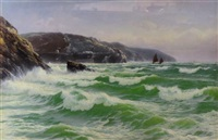 tide coming in, st. agnes bay cornwall by david james