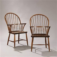 windsor chairs (pair) by frits henningsen